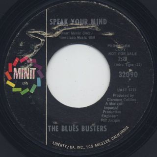 Blues Busters / Love Is The Answer back