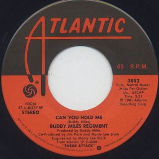 Buddy Miles Regiment / Can You Hold Me c/w Jazz Fusion