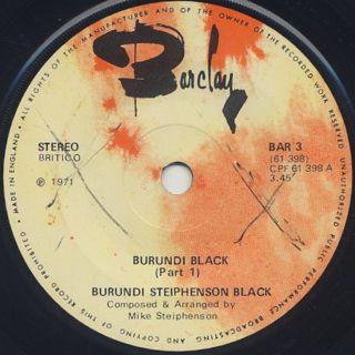 Burundi Steiphenson Black / Burundi Black