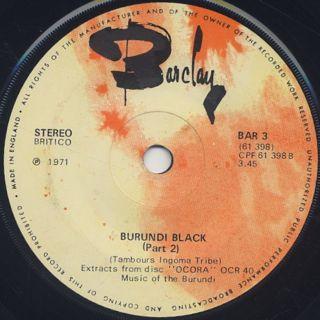 Burundi Steiphenson Black / Burundi Black back