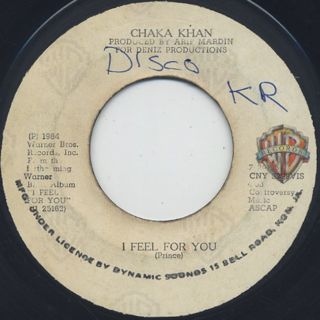 Chaka Khan / I Feel For You c/w China Town front