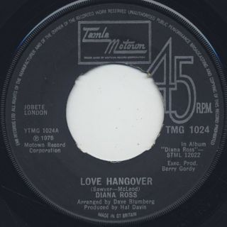 Diana Ross / Love Hangover front