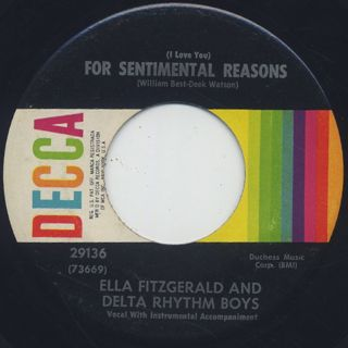 Ella Fitzgerald And Delta Rhythm Boys / For Sentimental Reasons