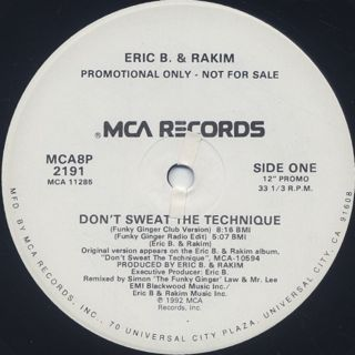 Eric B. & Rakim / Don't Sweat The Technique front