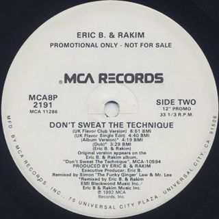 Eric B. & Rakim / Don't Sweat The Technique back