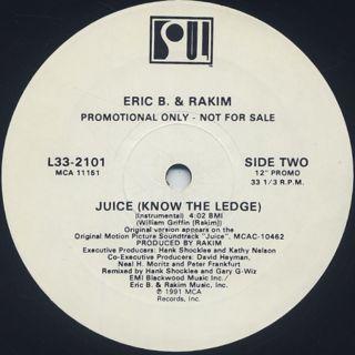 Eric B. & Rakim / Juice (Know The Ledge) back