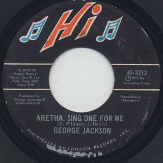 George Jackson / Aretha, Sing One For Me front