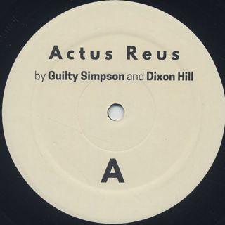 Guilty Simpson & Dixon Hill / Actus Reus label