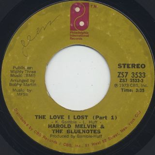 Harold Melvin & The Blue Notes / The Love I Lost (Parts 1 & 2)