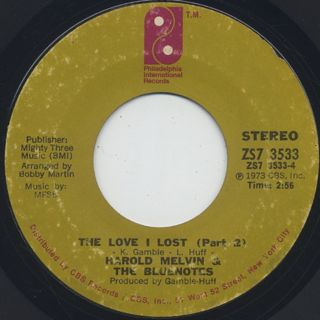 Harold Melvin & The Blue Notes / The Love I Lost (Parts 1 & 2) back