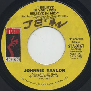 Johnnie Taylor / I Believe In You (You Believe In Me) front
