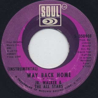 Jr. Walker & The All Stars / Way Back Home back