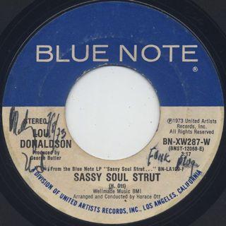 Lou Donaldson / Sassy Soul Strut c/w Pillow Talk