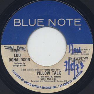 Lou Donaldson / Sassy Soul Strut c/w Pillow Talk back