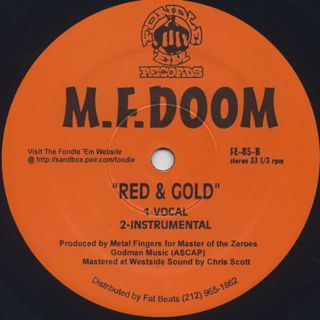 M.F. Doom / The M.I.C. c/w Red and Gold back