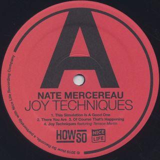 Nate Mercereau / Joy Techniques label