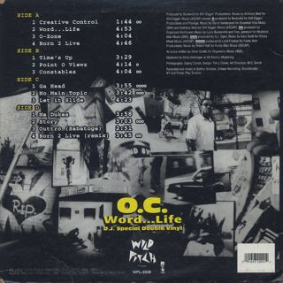 O.C. / Word...Life (D.J. Special Double Vinyl) back
