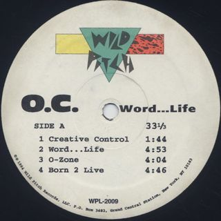 O.C. / Word...Life (D.J. Special Double Vinyl) label