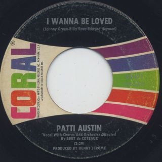 Patti Austin / A Most Unusual Boy c/w I Wanna Be Loved back