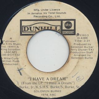 Solomon Burke / Midnight And You c/w I Have A Dream