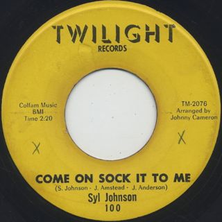 Syl Johnson / Come On Sock It To Me back