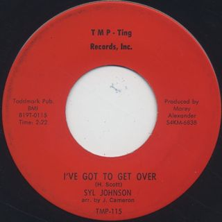 Syl Johnson / Falling In Love Again c/w I've Got To Get Over back