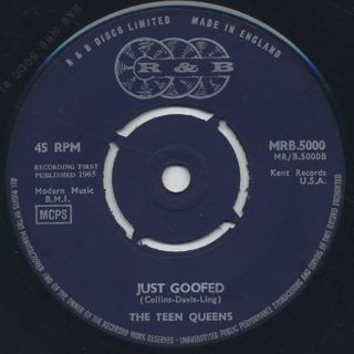 Teen Queens / Eddie My Love c/w Just Goofed front