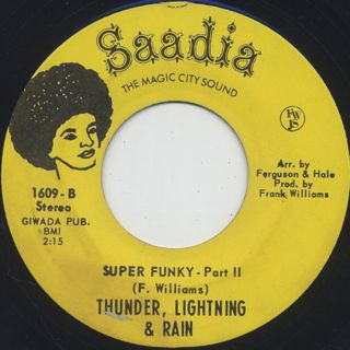 Thunder, Lightning & Rain / Super Funky back