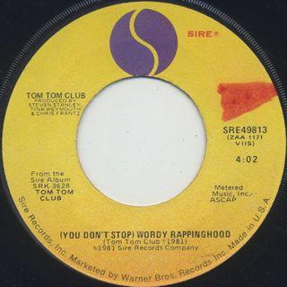 Tom Tom Club / Wordy Rappinghood (7