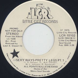 All Points Bulletin Band / Sexy Ways-Pretty Legs