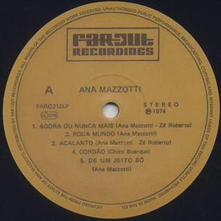 Ana Mazzotti / Ana Mazzotti label