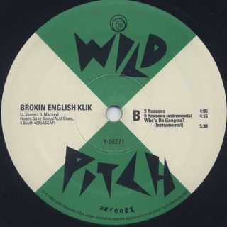 Brokin English Klik / Who's Da Gangsta? label