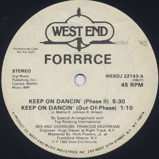 Forrrce / Keep On Dancin' front