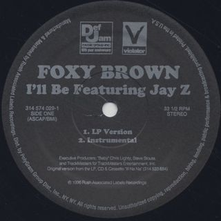 Foxy Brown / I'll Be label