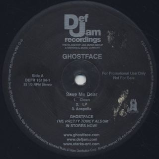Ghostface Killah / Save Me Dear back