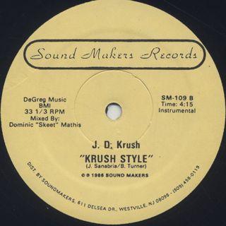 J.D. Krush / Krush Style back