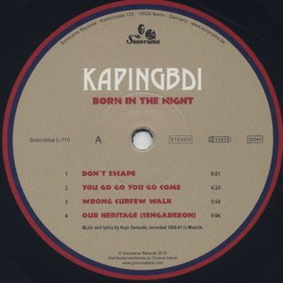 Kapingbdi / Born In The Night label