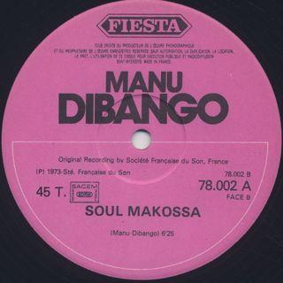 Manu Dibango / Big Blow c/w Soul Makossa back