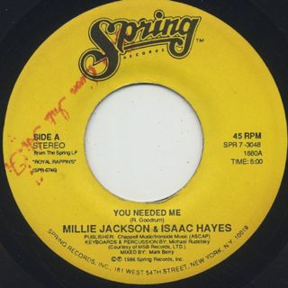 Millie Jackson & Isaac Hayes / You Needed Me front