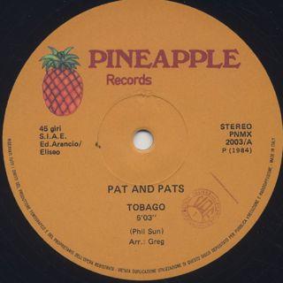 Pat And Pats / Tobago back
