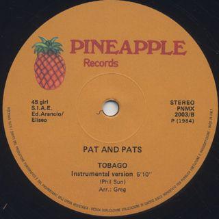 Pat And Pats / Tobago label