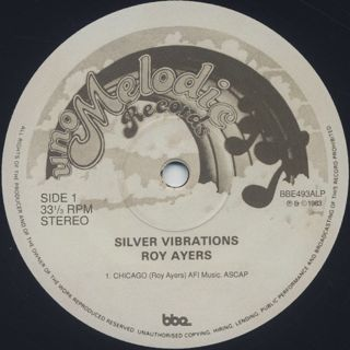 Roy Ayers / Silver Vibrations (2LP) label