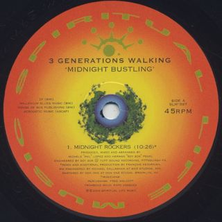 3 Generations Walking / Midnight Bustling label