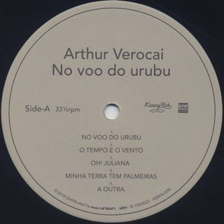 Arthur Verocai / No Voo Do Urubu (LP) label