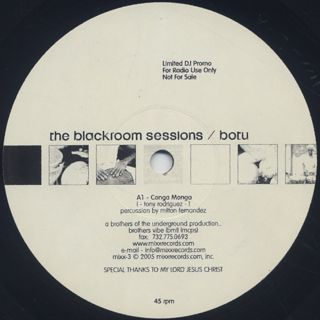 Brothers Of The Underground / The Blackroom Sessions back
