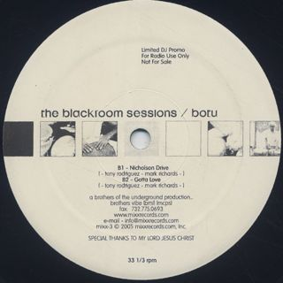 Brothers Of The Underground / The Blackroom Sessions label