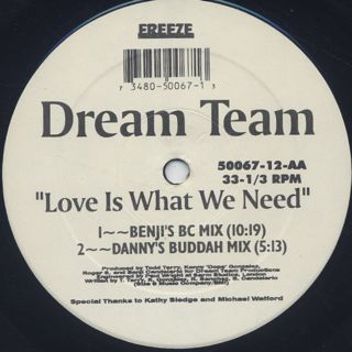 Dream Team / Love Is What We Need back