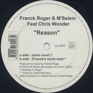 Franck Roger & M'Selem feat. Chris Wonder / Reason