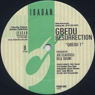 Gbedu Resurrection / Gbedu 1 back