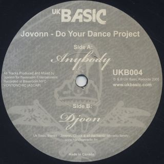 Jovonn / Do Your Dance Project back